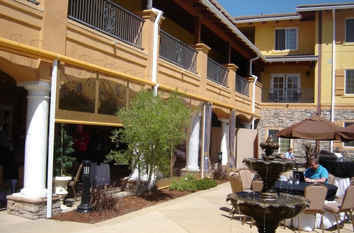 Motorized Drop Curtains for Napa resort
