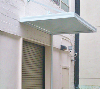 Traditional Awning for Commercial loading dock