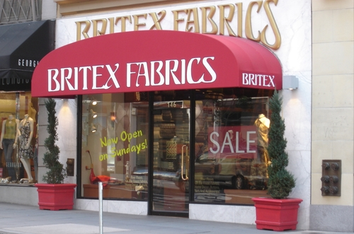 Traditional Awning for Britex Fabrics