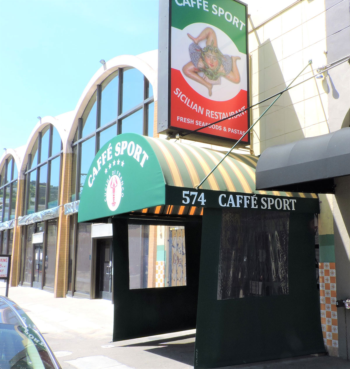 Traditional Awning for Caffe Sport